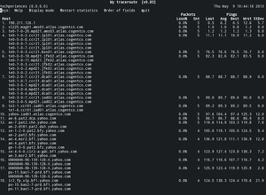 mtr (My traceroute) in action.